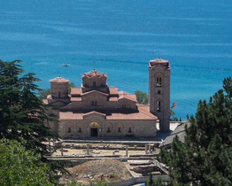 オフリド市内観光+聖ナウム修道院を訪れる1日ツアー【オフリド発】