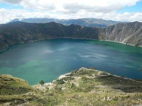 南米一美しいカルデラ湖 キロトア湖1日ツアー