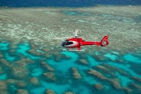 ヘリコプター遊覧飛行10分間付き!「エボリューション号」で行くアウターリーフクルーズ
