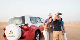 <アラビアンアドベンチャーズ確約>4WD砂漠サファリ+ベリーダンスショー+アルコール付きビュッフェディナー