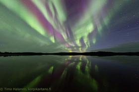 フィンランド北部だから観測確率高め!! 2泊3日オーロラ鑑賞 [ヘルシンキ-イヴァロ間航空券+ロッジ+アクティビティー]