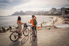 自転車で巡る!イパネマビーチ・ボタニカルガーデンとサンセット鑑賞【英語ガイド】