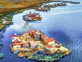 往復 夜行バス利用!チチカカ湖に浮かぶ島「ウロス島」と「タキーレ島」3日間【英語ガイド】