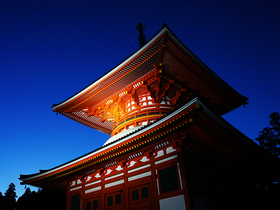 1200年以上続く密教の聖地高野山・伽藍(ガラン)ナイトツアー!【和歌山県高野山】