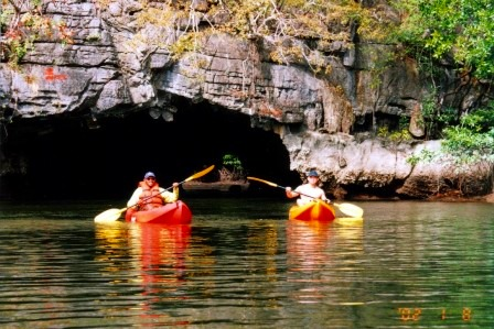 ワシの餌付け、カヤックでの洞窟くぐり、こうもりの鑑賞など貴重な体験がいっぱい!!ランカウイ島夕方発カヤックツアー