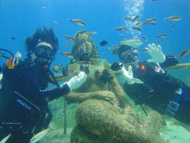 セブ島で半日体験 1ボートダイビング!マクタン島周辺
