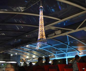 ホテル送迎付き!!セーヌ河ナイトクルーズ&「光の都市」パリのイルミネーション観光