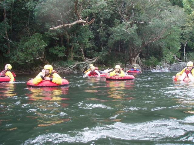 パームコーブ発 マルグレーブ川で川遊び!半日チュービング