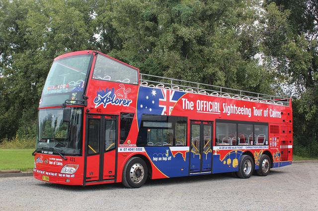 ホバートエクスプローラー 乗り降り自由!2階建てオープントップバス