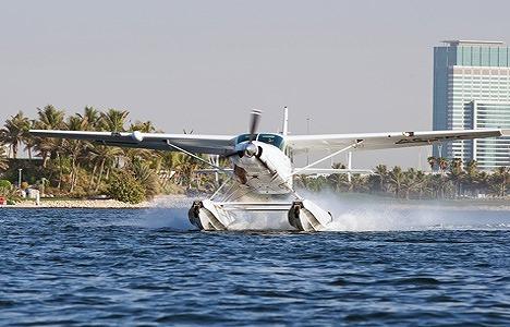 水上飛行機 40分遊覧飛行 ドバイオールドタウン 市内観光付き
