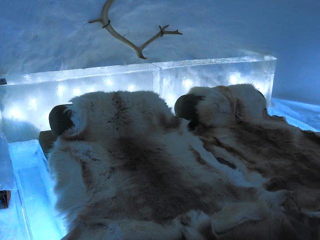 スノーイグルー1泊! ロヴァニエミ空港からの往復バスチケット付 [ラップランドのスキーリゾート、ルカ近郊の雪のホテル/ 期間限定1月~3月]