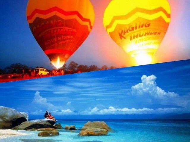 1日で満喫!熱気球 と フィッツロイ島